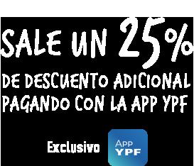 25% de descuento adicional pagando con la app ypf