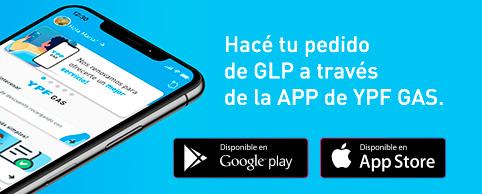 Hacé tu pedido de GLP a través de la APP de YPF GAS