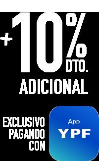 10% de descuento adicional pagando con la app ypf
