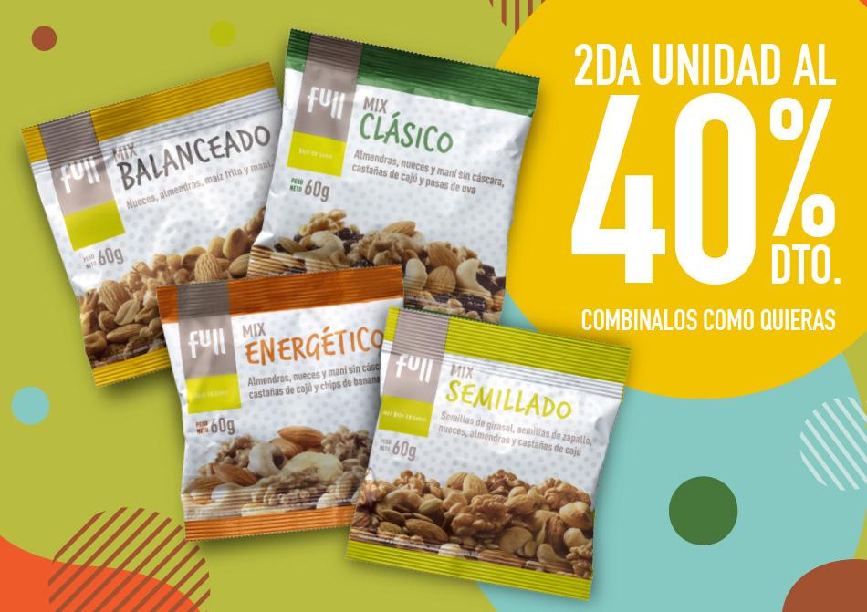 Segunda unidad al 40%, mix de cereales full